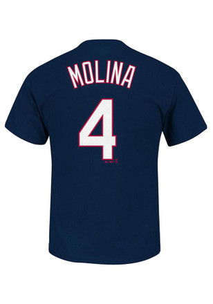 Yadier Molina St Louis Cardinals Mens Navy Blue Molina Player Tee