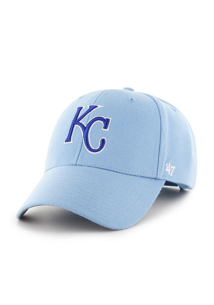 '47 Kansas City Royals Mens Light Blue MVP Adjustable Hat - Image 1