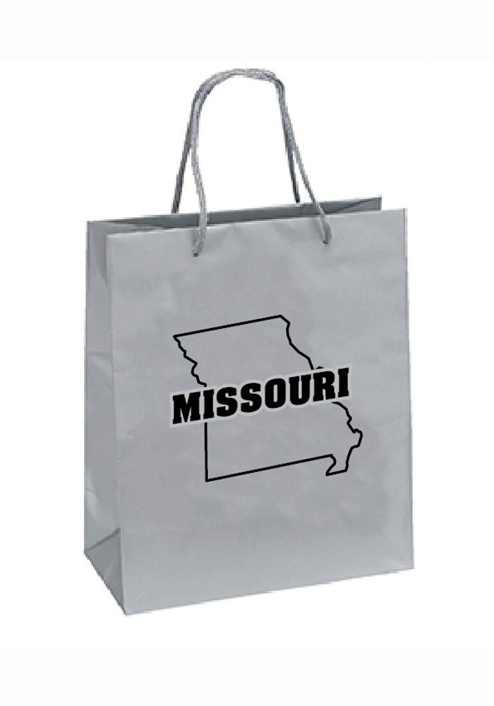 Missouri 10x12 Silver Grey Gift Bag - Image 1