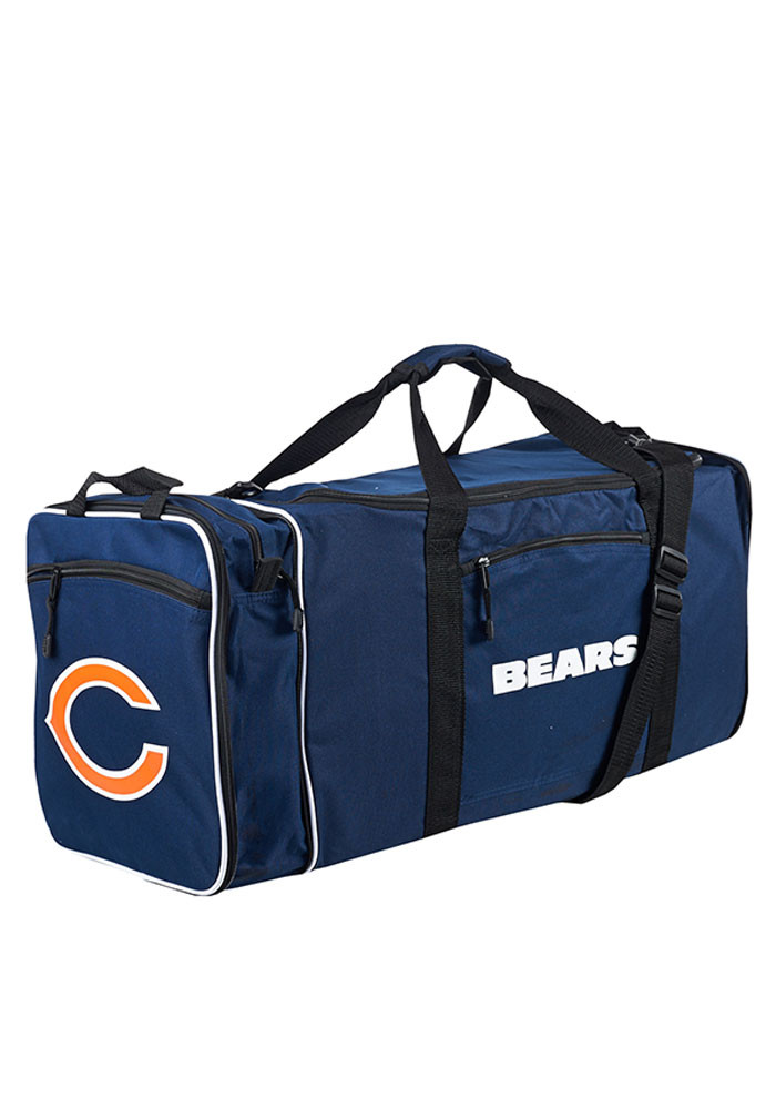 Chicago Bears Navy Blue Steal Gym Bag - Image 1