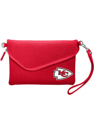 Kansas City Chiefs Womens Fold Over Pebble Purse - Red
