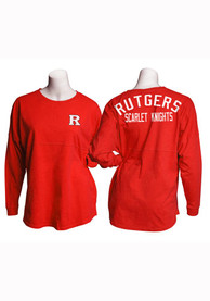 Rutgers Scarlet Knights Womens Game Day Jersey Red LS Tee