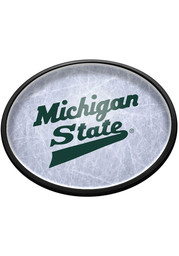 Michigan State Spartans Hockey Oval Slimline Lighted Sign