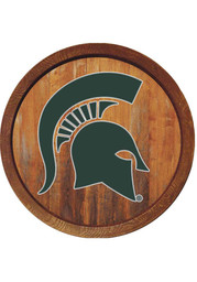 Michigan State Spartans Faux Barrel Top Sign