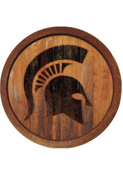 Michigan State Spartans Branded Faux Barrel Top Sign