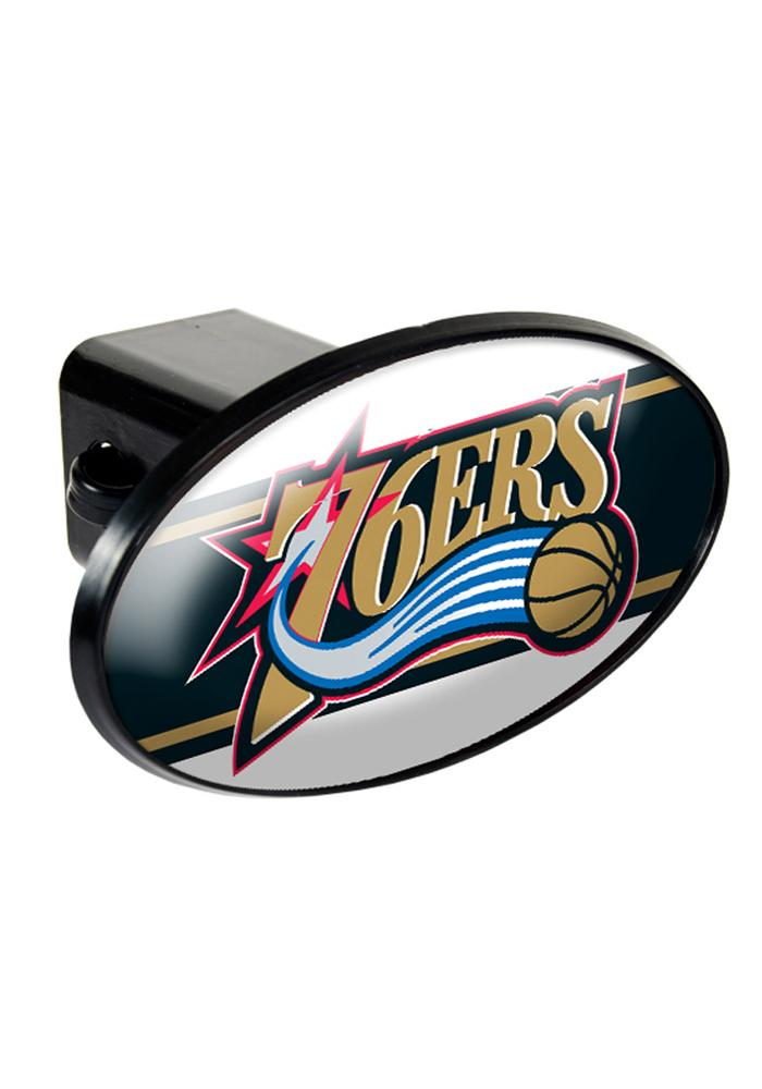 Philadelphia 76ers Plastic Oval Car Accessory Hitch Cover - Image 1