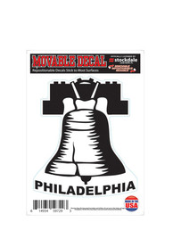 Philadelphia Liberty Bell 5x7 Auto Decal - Silver