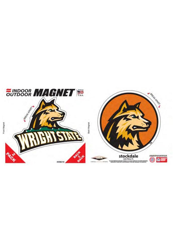 Wright State Raiders 6x6 2 Pack Car Accessory Car Magnet - Image 1