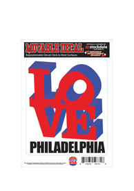 Philly Love Auto Decal - Red