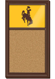 Wyoming Cowboys Cork Noteboard Sign