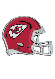 Kansas City Chiefs Domed Helmet Car Emblem - Red