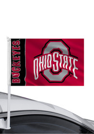 Ohio State Buckeyes 11x14 Red Car Flag - Red