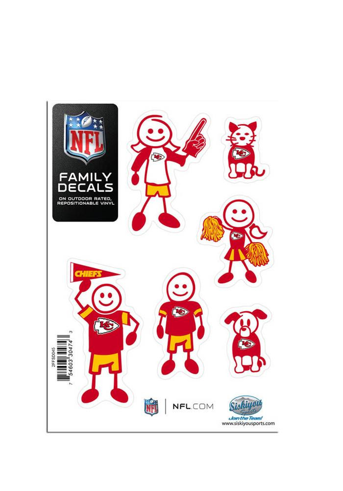 Kansas City Chiefs 5x7 Family Pack Decal - Image 1