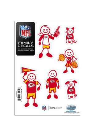 Kansas City Chiefs 5x7 Family Pack Decal