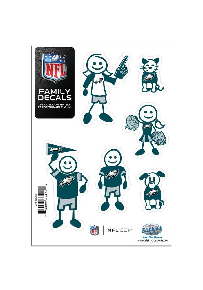 Philadelphia Eagles 5x7 Family Pack Auto Decal - Midnight Green - Image 2