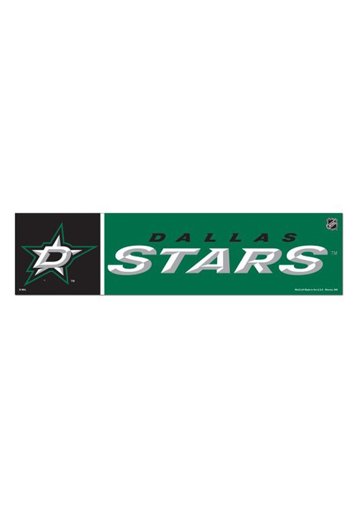 Dallas Stars 3x12 Bumper Sticker - Green - Image 1