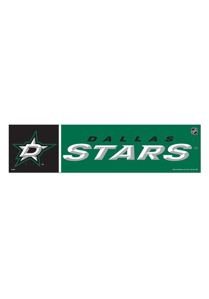 Dallas Stars 3x12 Bumper Sticker - Green - Image 2