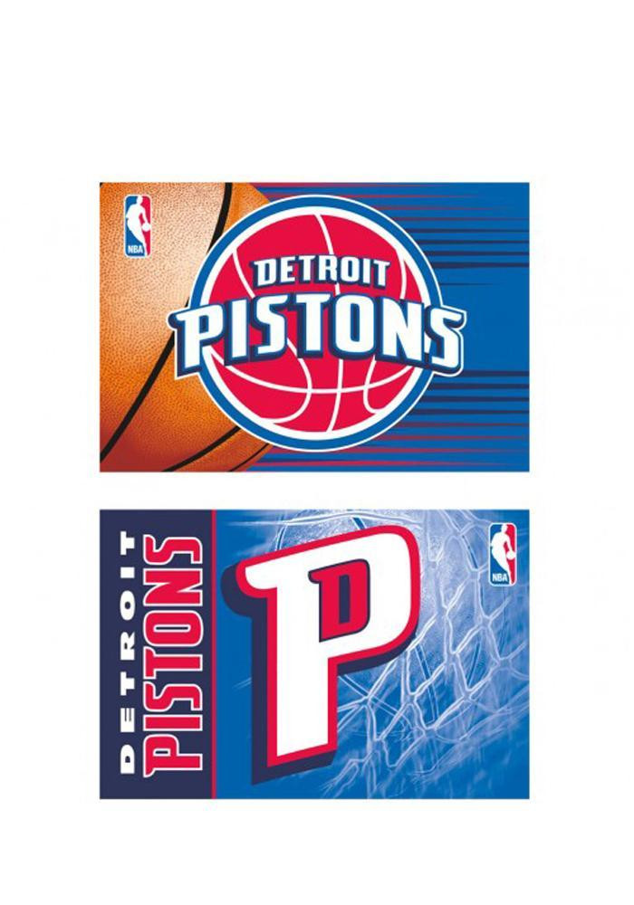 Detroit Pistons 2pk Rectangle Magnet - Image 1