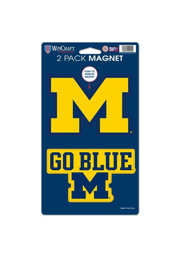 Michigan Wolverines 5x9 2pk Magnet - Image 1