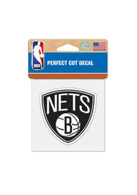 Brooklyn Nets 4x4 Perfect Cut Auto Decal - Red