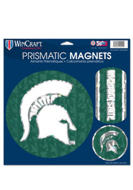 Michigan State Spartans 11x11 Prismatic Magnet