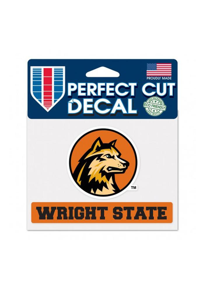 Wright State Raiders 4.5x5.75 Perfect Cut Decal - Image 1