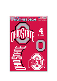 Ohio State Buckeyes 11x17 Multi Use Sheet Auto Decal - Red