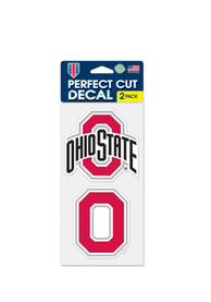 Ohio State Buckeyes 4x4 2 Pack Perfect Cut Auto Decal - Red