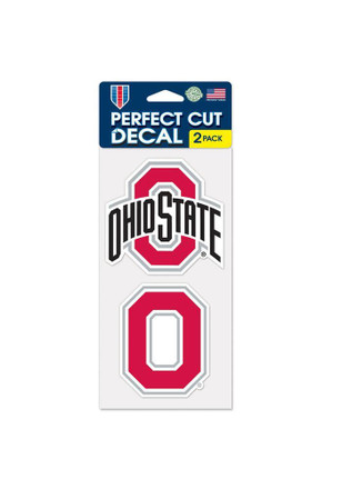 Ohio State Buckeyes 4x4 2 Pack Perfect Cut Decal
