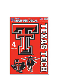 Texas Tech Red Raiders 11x17 Multi Use Sheet Auto Decal - Red