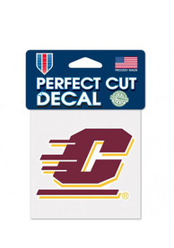 Central Michigan Chippewas 4x4 Perfect Cut Auto Decal - Maroon