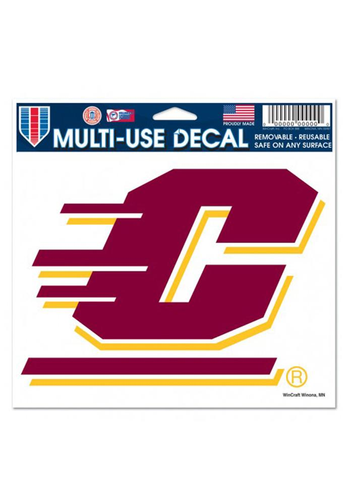 Central Michigan Chippewas 5x6 Multi-Use Auto Decal - Maroon - Image 1