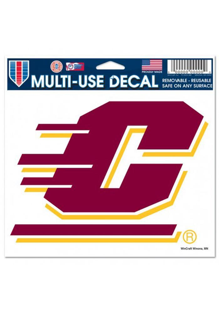 Central Michigan Chippewas 5x6 Multi-Use Auto Decal - Maroon - Image 2
