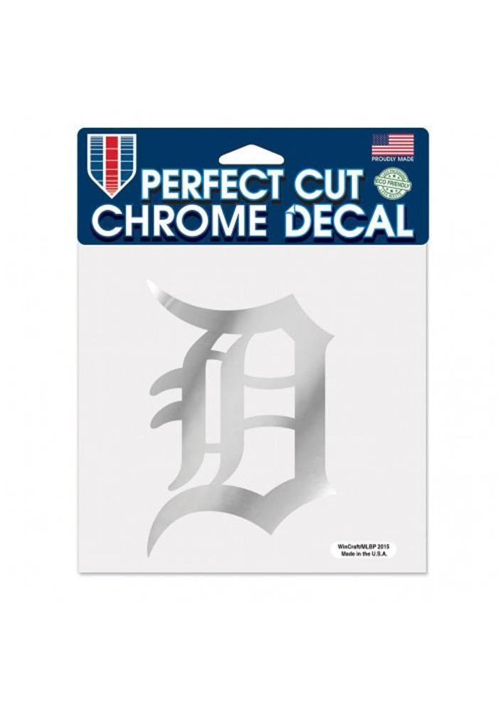 Detroit Tigers 6x6 Chrome Decal - Image 1