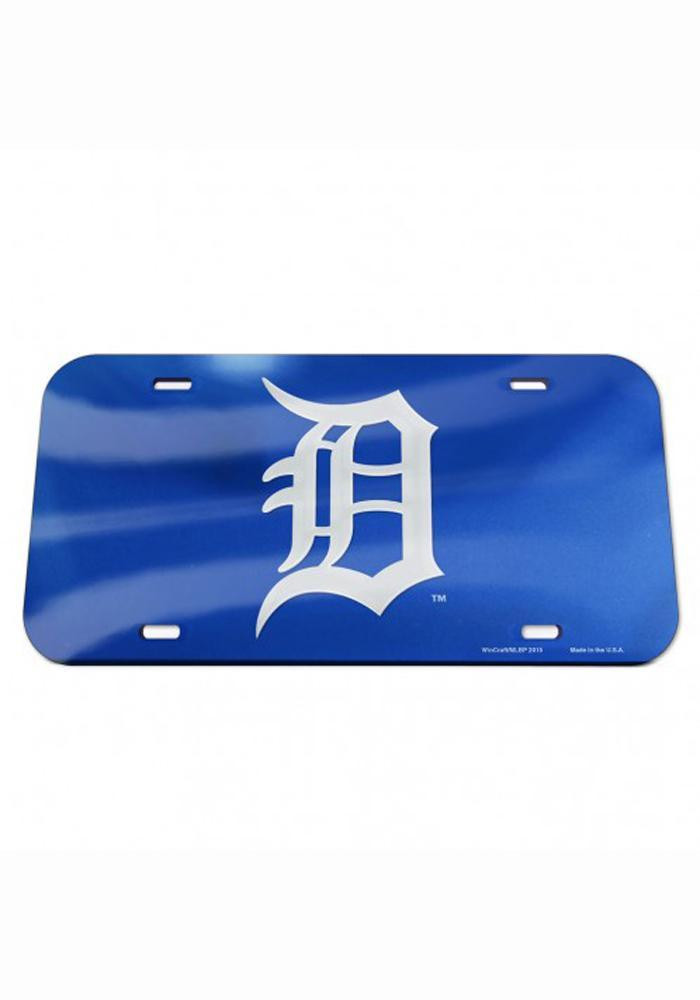 Detroit Tigers Team Logo Navy Inlaid Car Accessory License Plate - Image 1