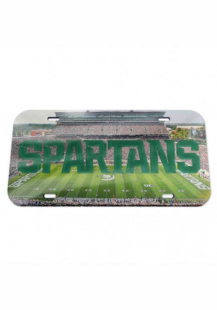 Michigan State Spartans Stadium Crystal Mirror Car Accessory License Plate - Image 1
