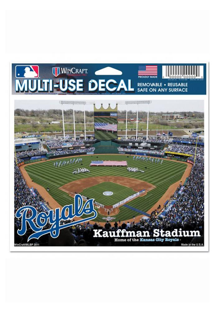 Kansas City Royals 5x6 Multi Use Auto Decal - Green - Image 1