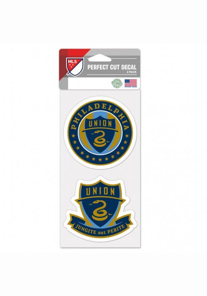 Philadelphia Union 4x4 2 Pack Perfect Cut Auto Decal - Navy Blue - Image 2