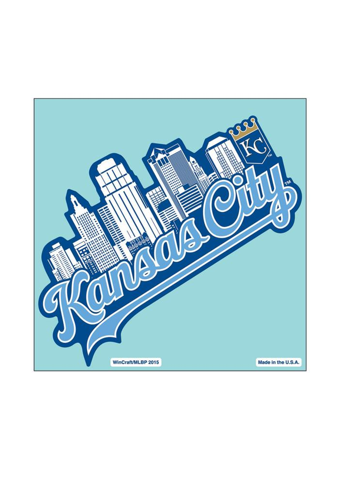 Kansas City Royals 8X8 City Skyline Auto Decal - Light Blue - Image 1