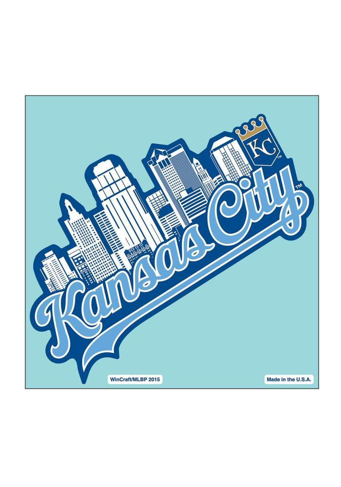 Kansas City Royals 8X8 City Skyline Auto Decal - Light Blue - Image 2