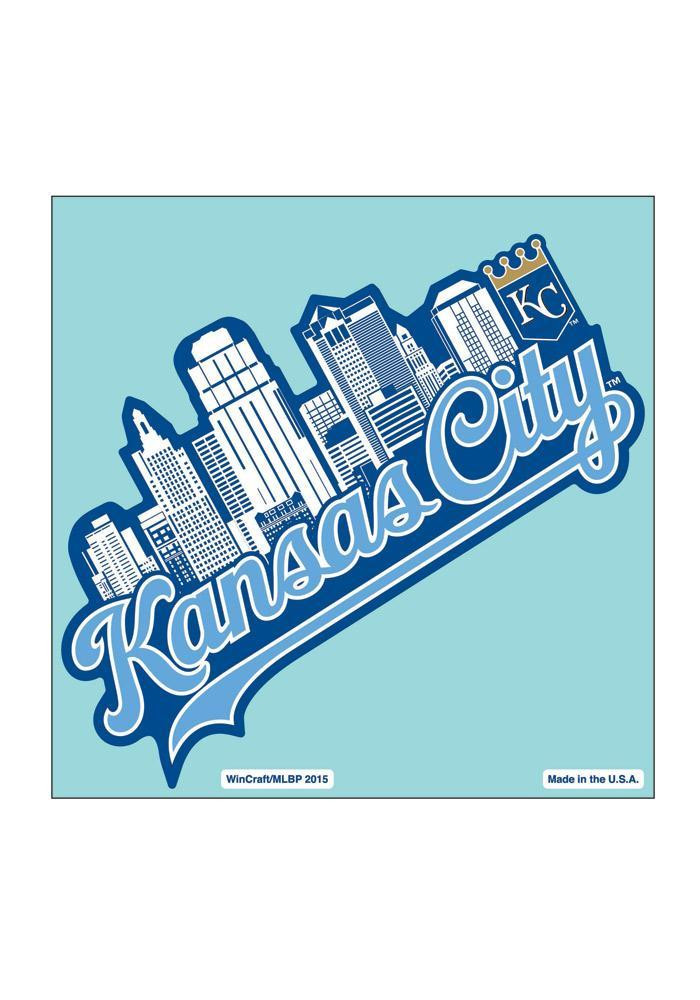 Kansas City Royals 8X8 City Skyline Decal - Image 1
