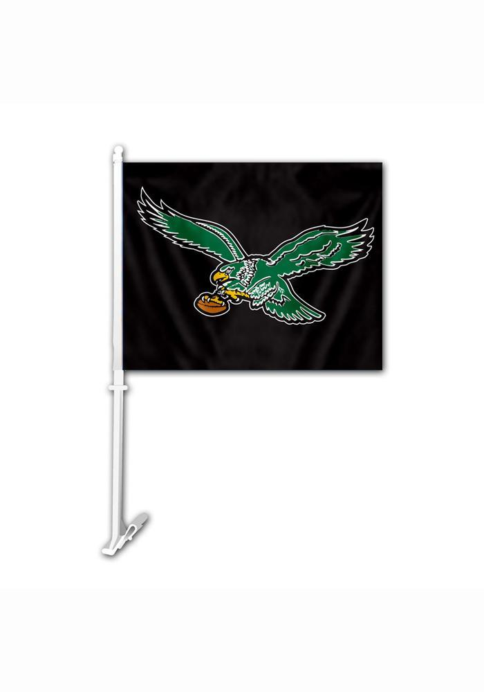 Philadelphia Eagles 11.5x14.5 Retro Bird Car Flag - Black - Image 2