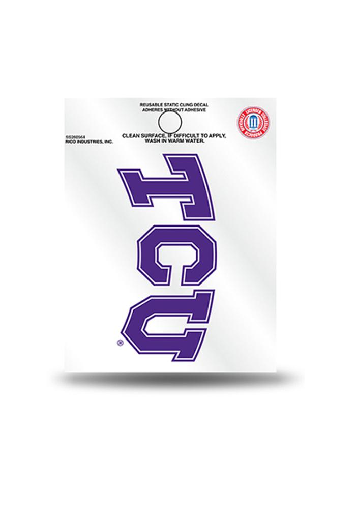 TCU Horned Frogs Small Auto Static Cling - Image 1