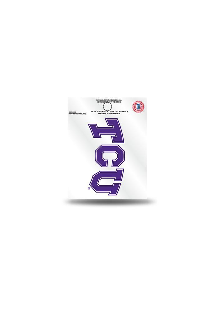 TCU Horned Frogs Small Auto Static Cling - Image 2