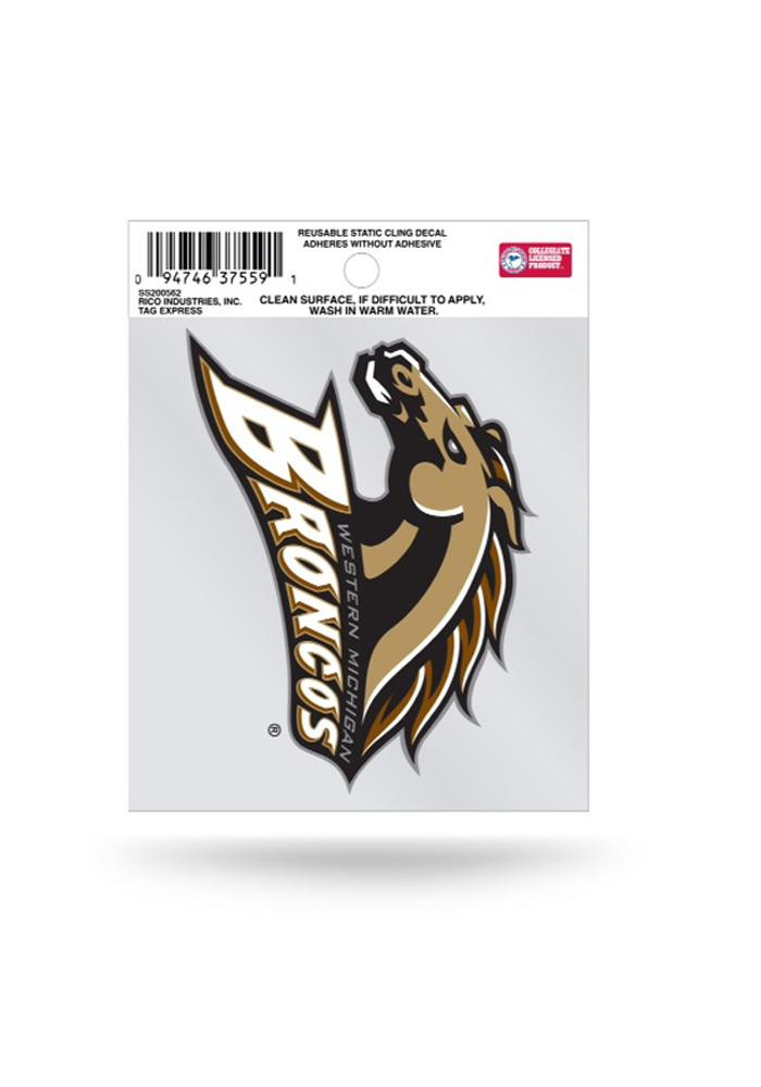 Western Michigan Broncos Small Auto Static Cling - Image 1
