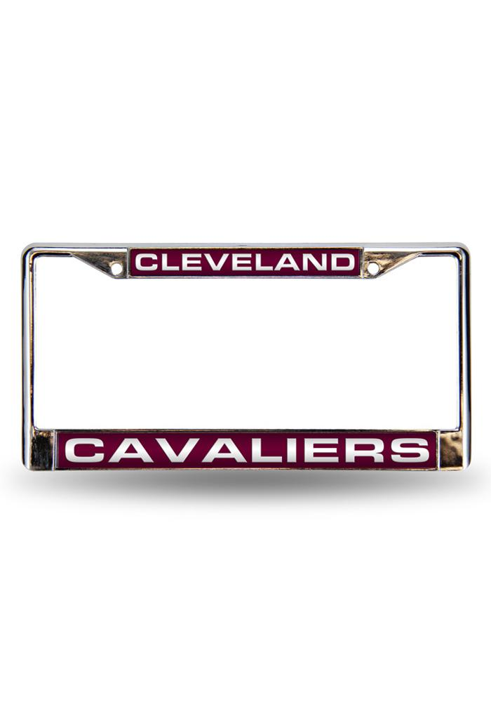 Cleveland Cavaliers Team Name Chrome License Frame - Image 1