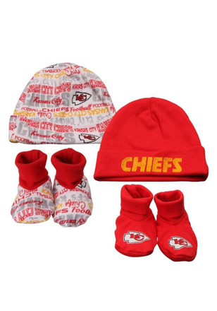 KC Chiefs Cap and Bootie Hat and Bootie Set
