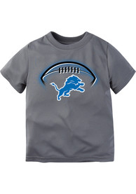 Detroit Lions Infant Football Glow T-Shirt - Charcoal