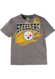 Pittsburgh Steelers Infant Arch Logo T-Shirt - Charcoal