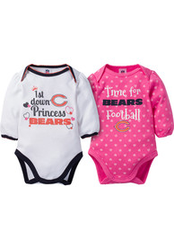 Chicago Bears Baby Princess One Piece - Pink